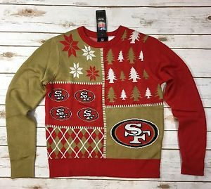 1c34905a244 NFL Team Apparel San Francisco 49ers Ugly Christmas Sweater Youth M 10 12