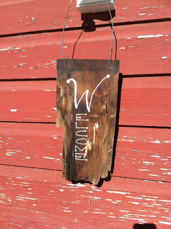 Best Wooden Cedar Shingle Welcome Sign By Elegantrustichome On 400 x 300