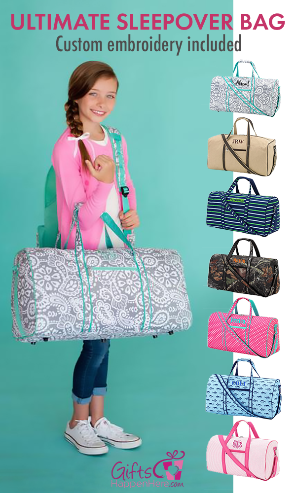 5bb08a6222 Cute girls   boys duffle bag beautifully monogrammed custom embroidery  included! Kids duffle bags are great for overnight sleepovers