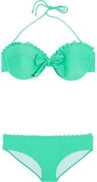 58ed89561ec345 shopstyle.com: Miu Miu Scalloped underwired bow bikini | SUMMER ...