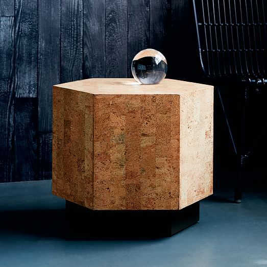 Geo Hex Side Table Cork Side Table Table Frames On Wall