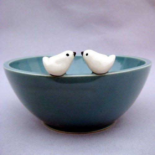 Tweethearts Robins Egg Blue Bird Bowl
