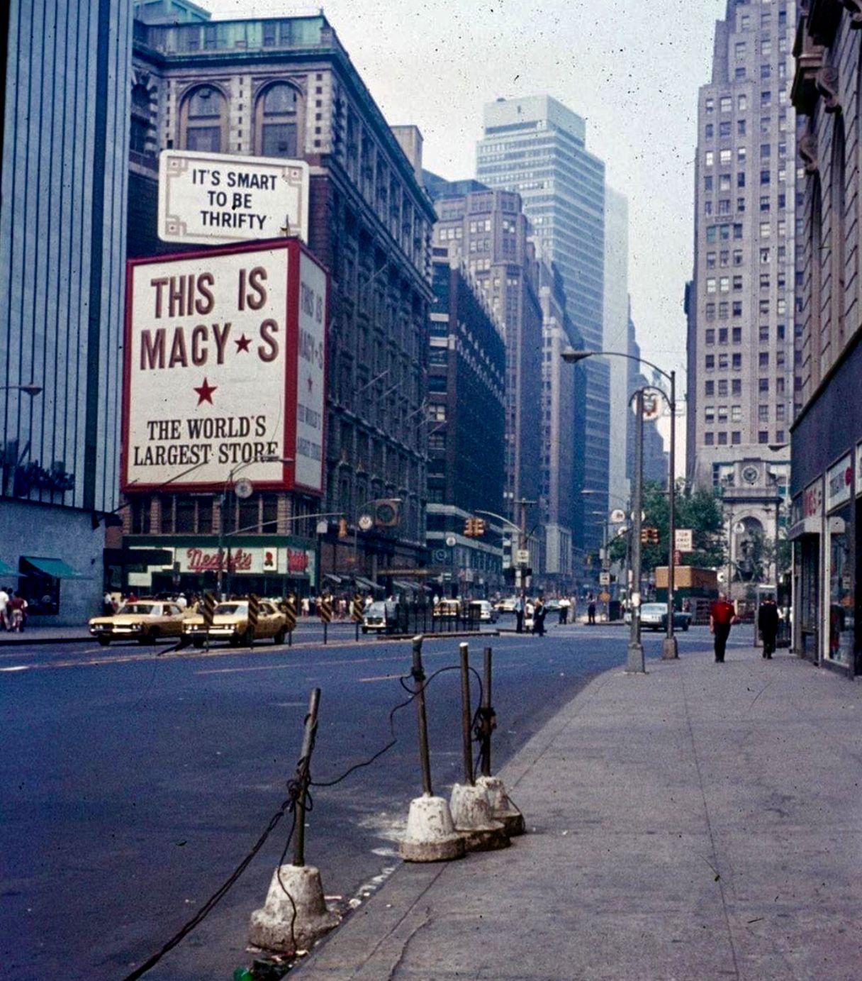 Macy S 34th Street 1969 New York City City Old Photography