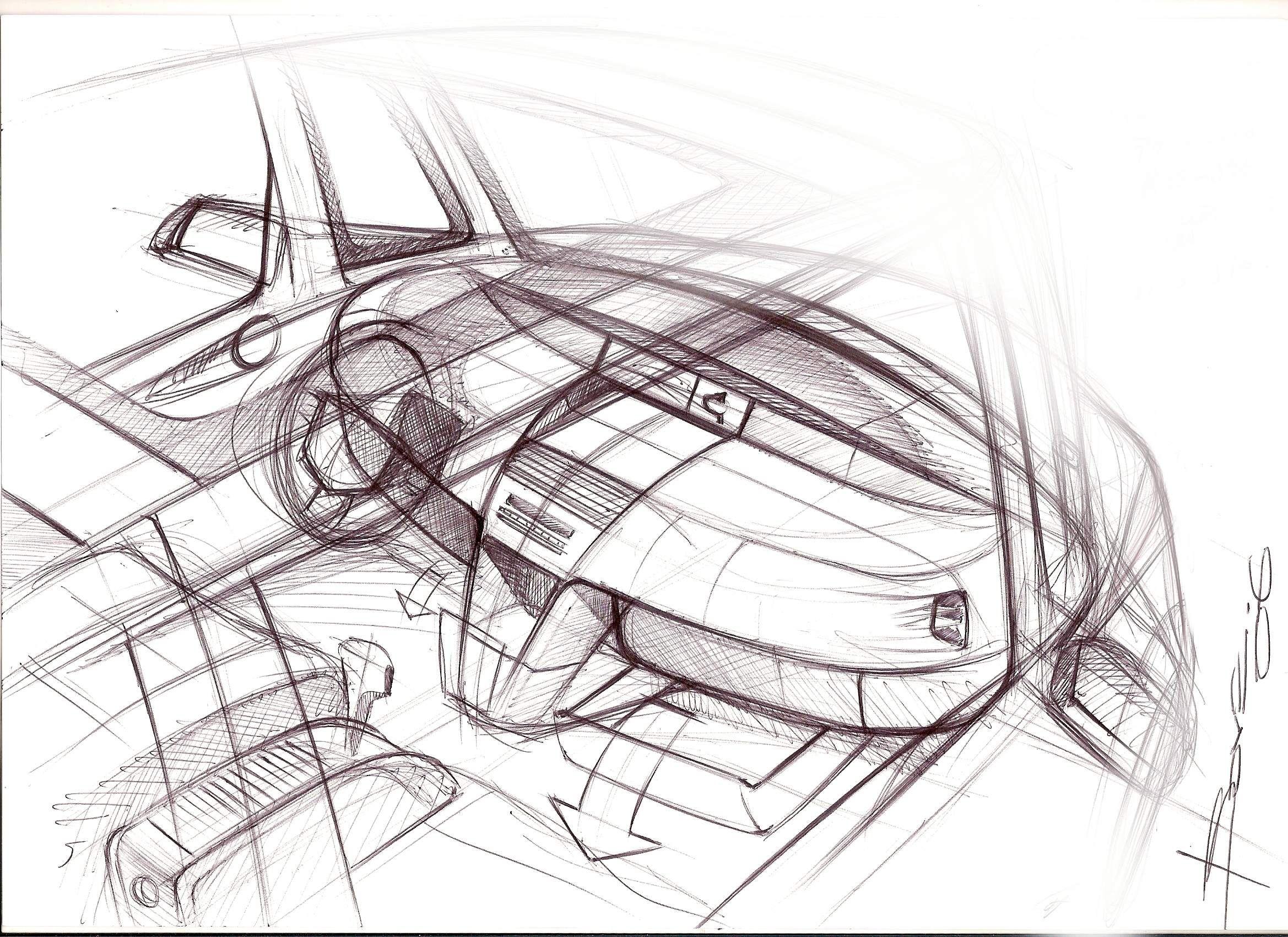 Car Design Sketches Interior SketchCar