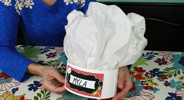 diy chef hats for kids   birthday party   pbs parents