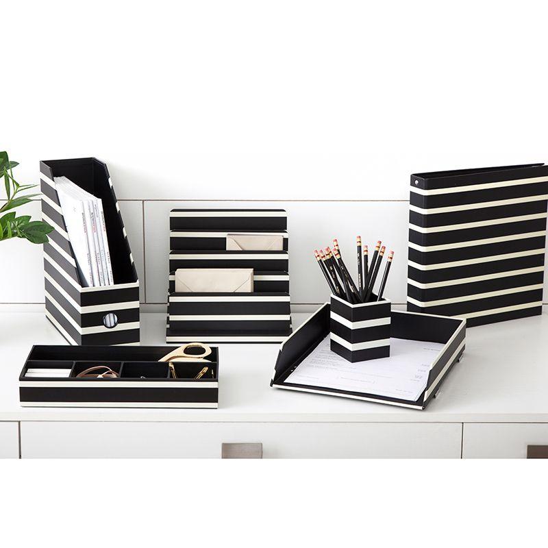 See Jane Work Black Stripe Stylish Office Supplies White