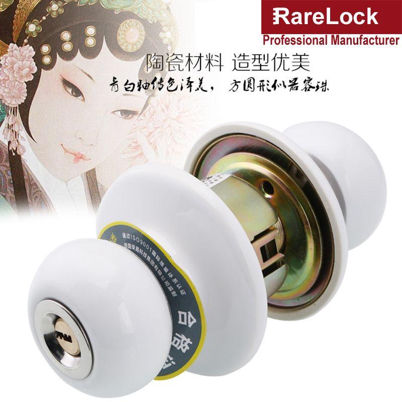 Rarelock Mms417 White Ceramics Spherical Interior Door Lock With