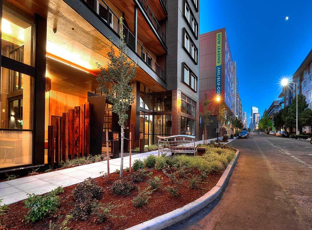 DowntownSeattle Apartments Building exterior South