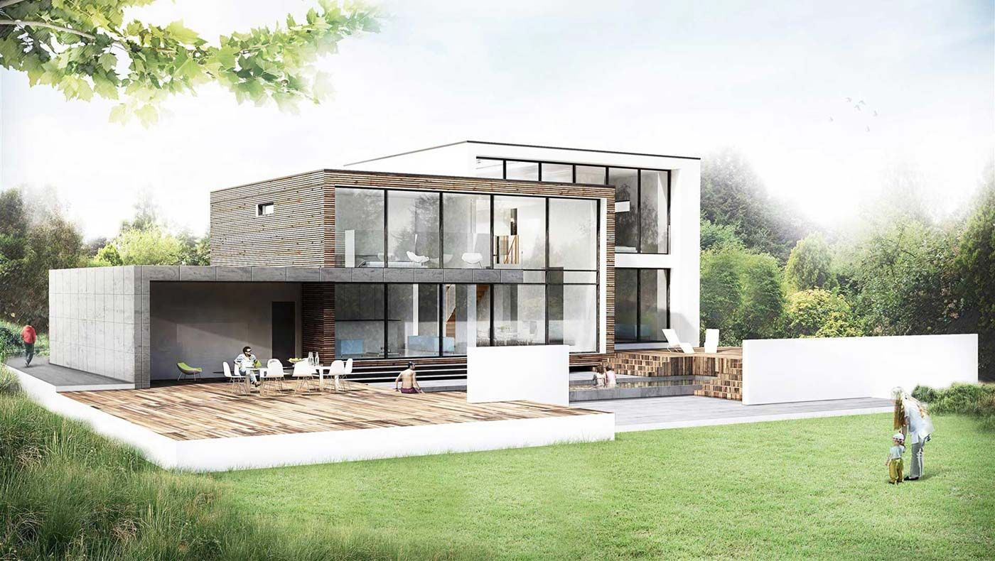 Nara Modern contemporary new build waterside architecture Archit