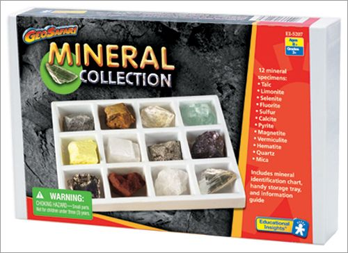 This fun and educational mineral rock collection includes 12 mineral rock specimens. The included rock samples are :  Talc, Limonite, Selenite, Fluorite...