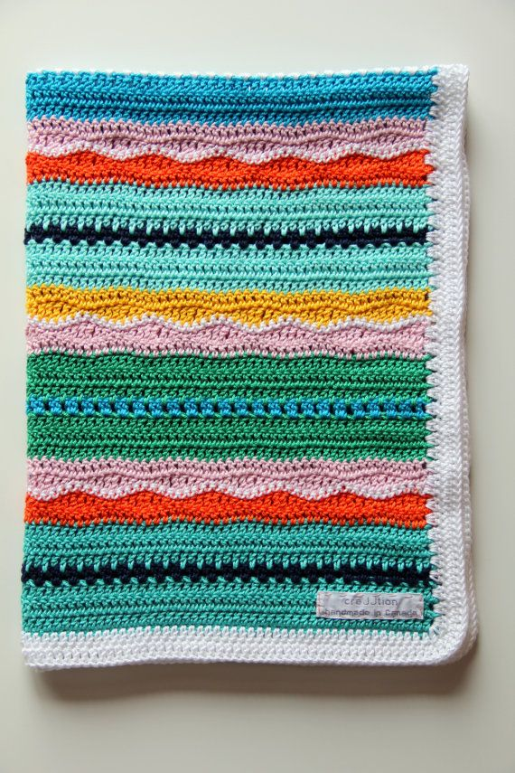Miami Beach Baby Blanket\' | Crochet Baby Blanket Pattern by ...