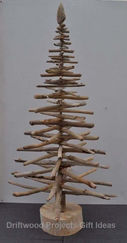 3ft Driftwood Christmas Tree Shabby Chic Home Decor Shelf X-Mas 36 90cm