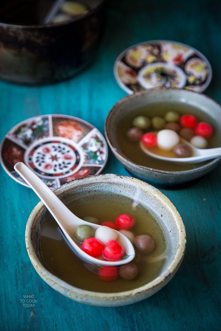 Tang Yuan (Glutinous rice balls in sweet ginger broth ...