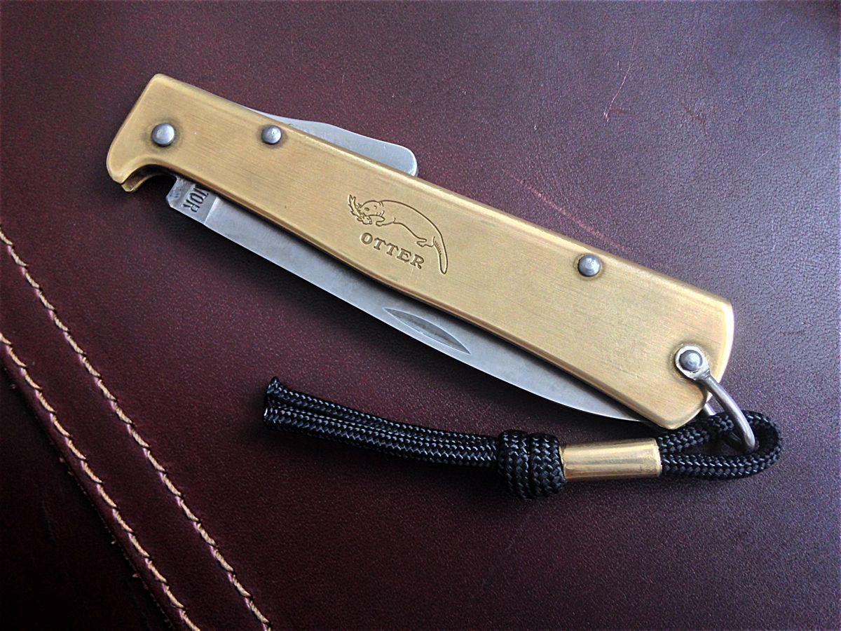 Review Otter Messer Brass Mercator Folding Knives Knife