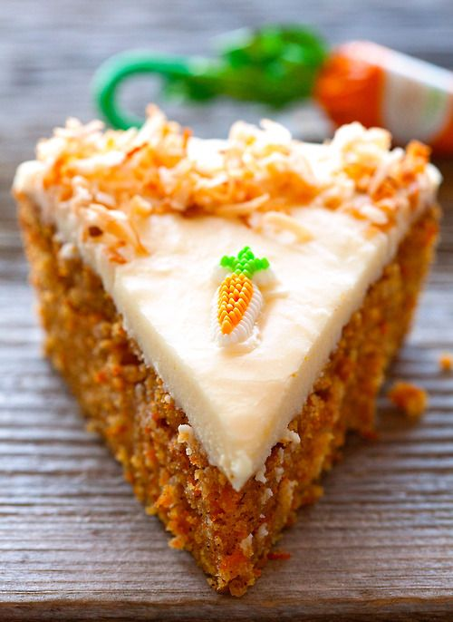 Carrot Cake with Cream Cheese Frosting. #food