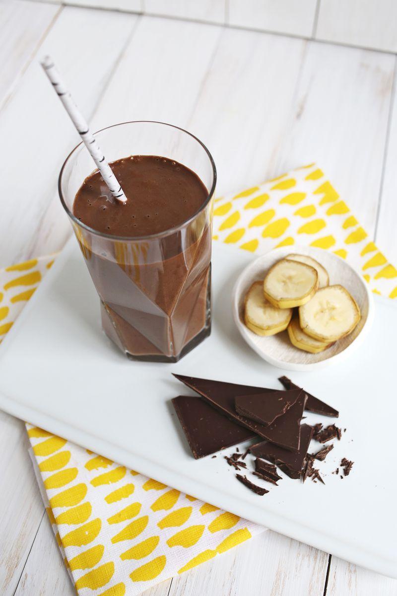 Healthy Chocolate Banana Shake - A Beautiful Mess