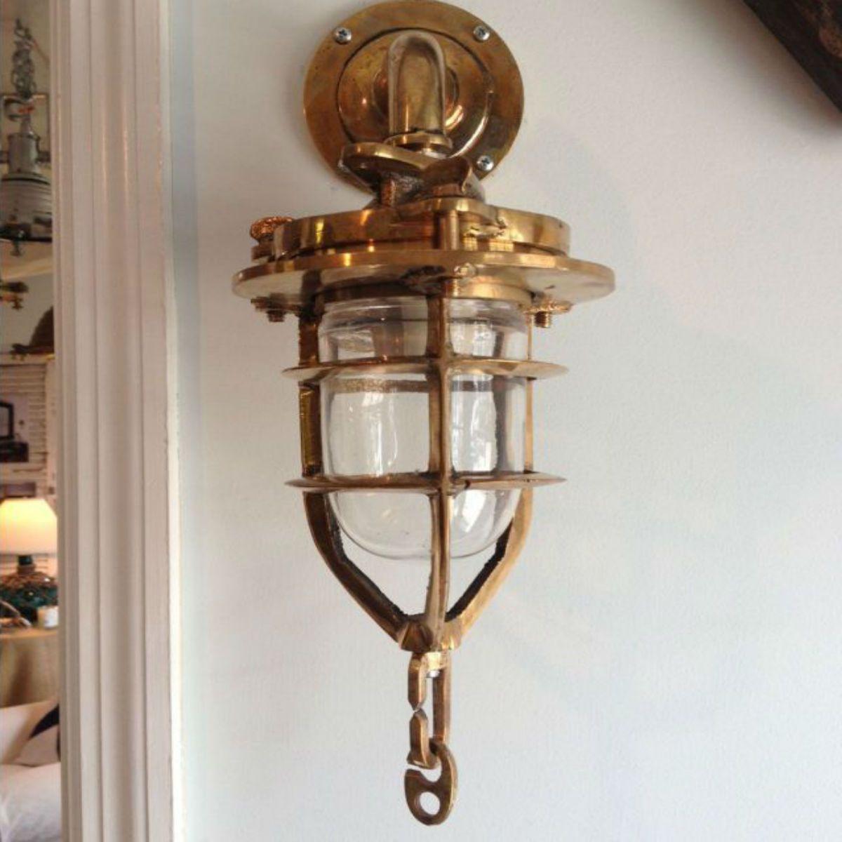 Brass convoy sconce light cottage lighting pinterest lights