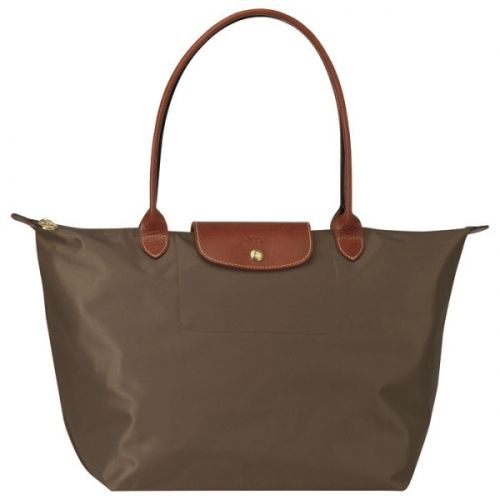 Longchamp Tasche Le Pliage Large Folding Tote Stiel Taupe Via Appia Due Taschen