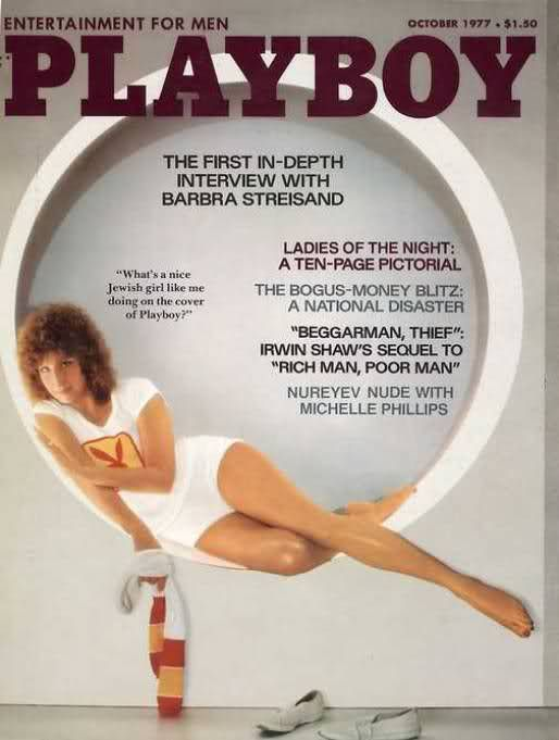 C7 Barbra Streisand on cover October 1977 Playboy Magazine In Depth interview