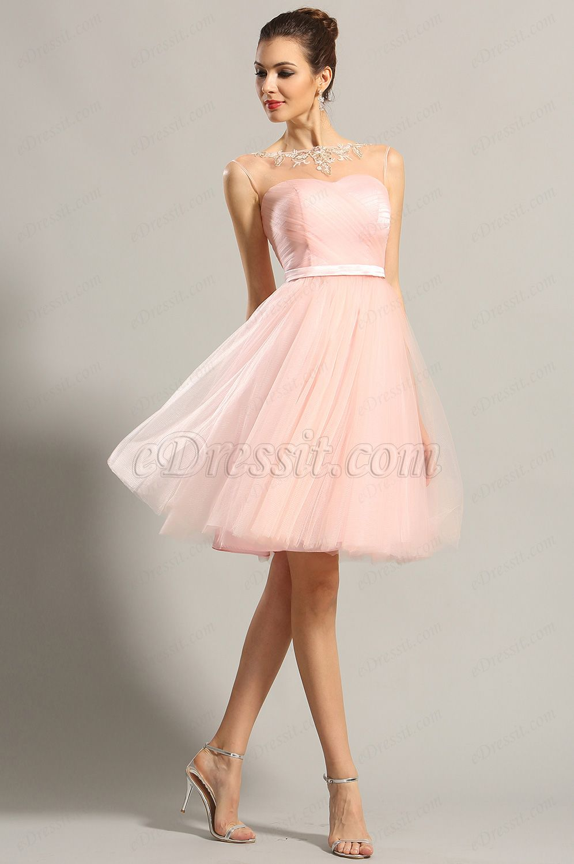 Usd edressit sleeveless sweetheart pink party dress cocktail