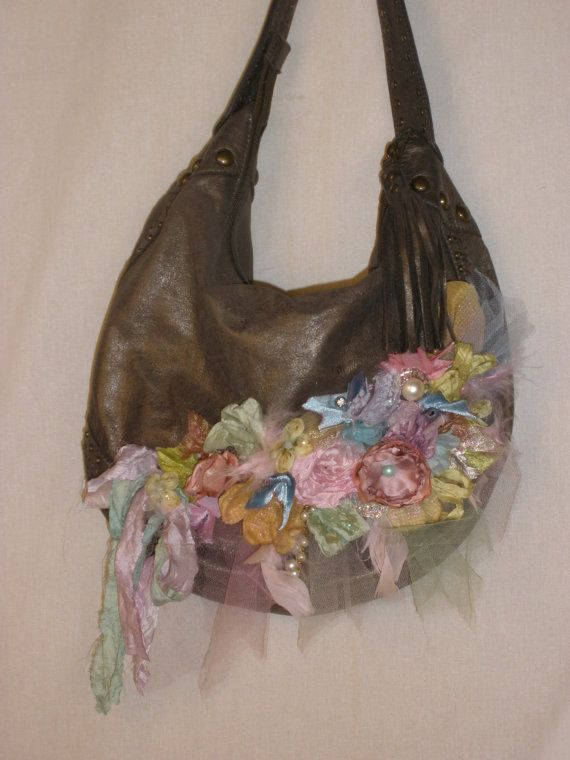 Rustic Rose Slouchy Purse di ShatteredPrincess su Etsy