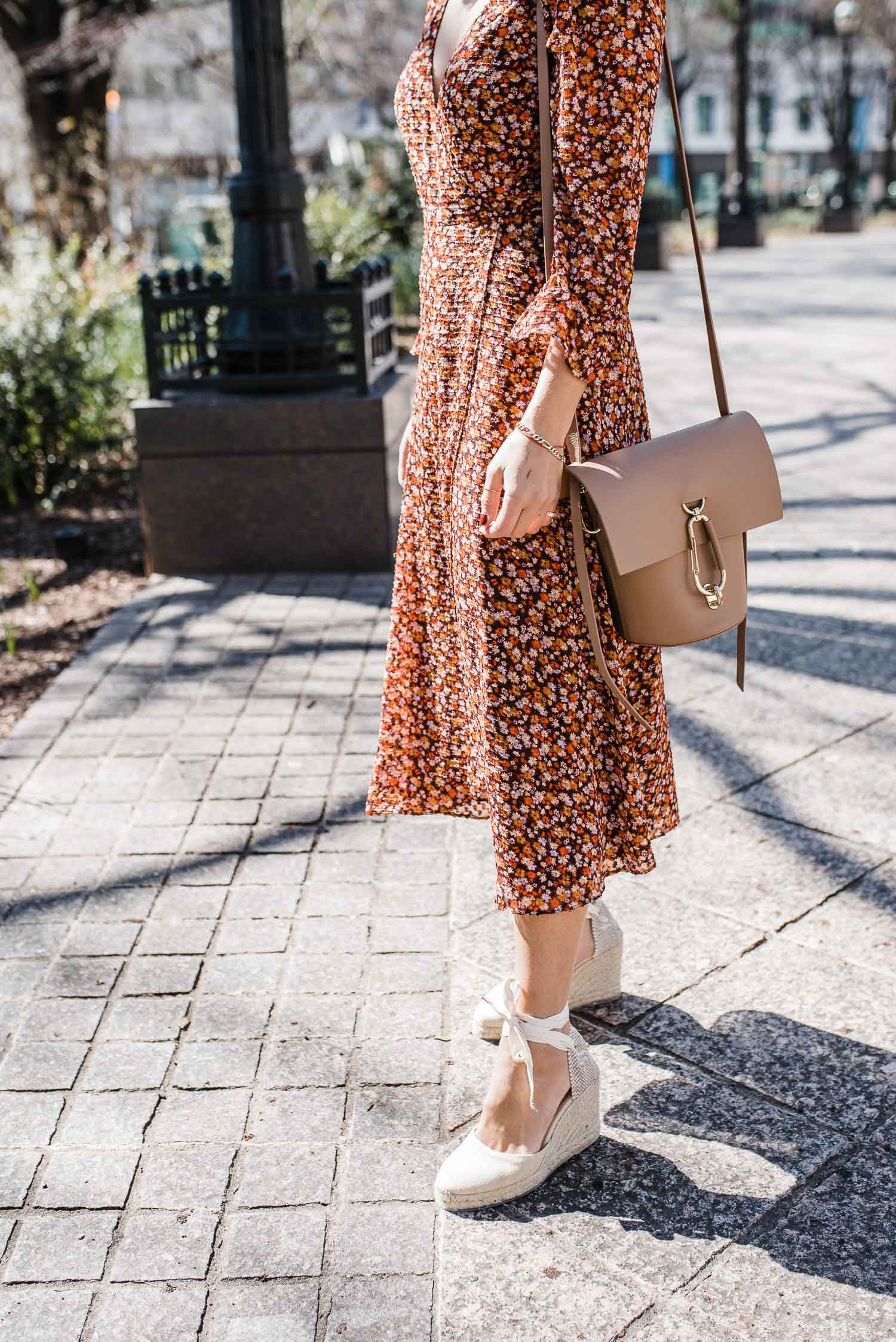 Floral Midi Wrap Dress Styled Two Ways Summer Fashion Outfits Wrap Dress Styles Midi Dress Style [ 2247 x 1500 Pixel ]