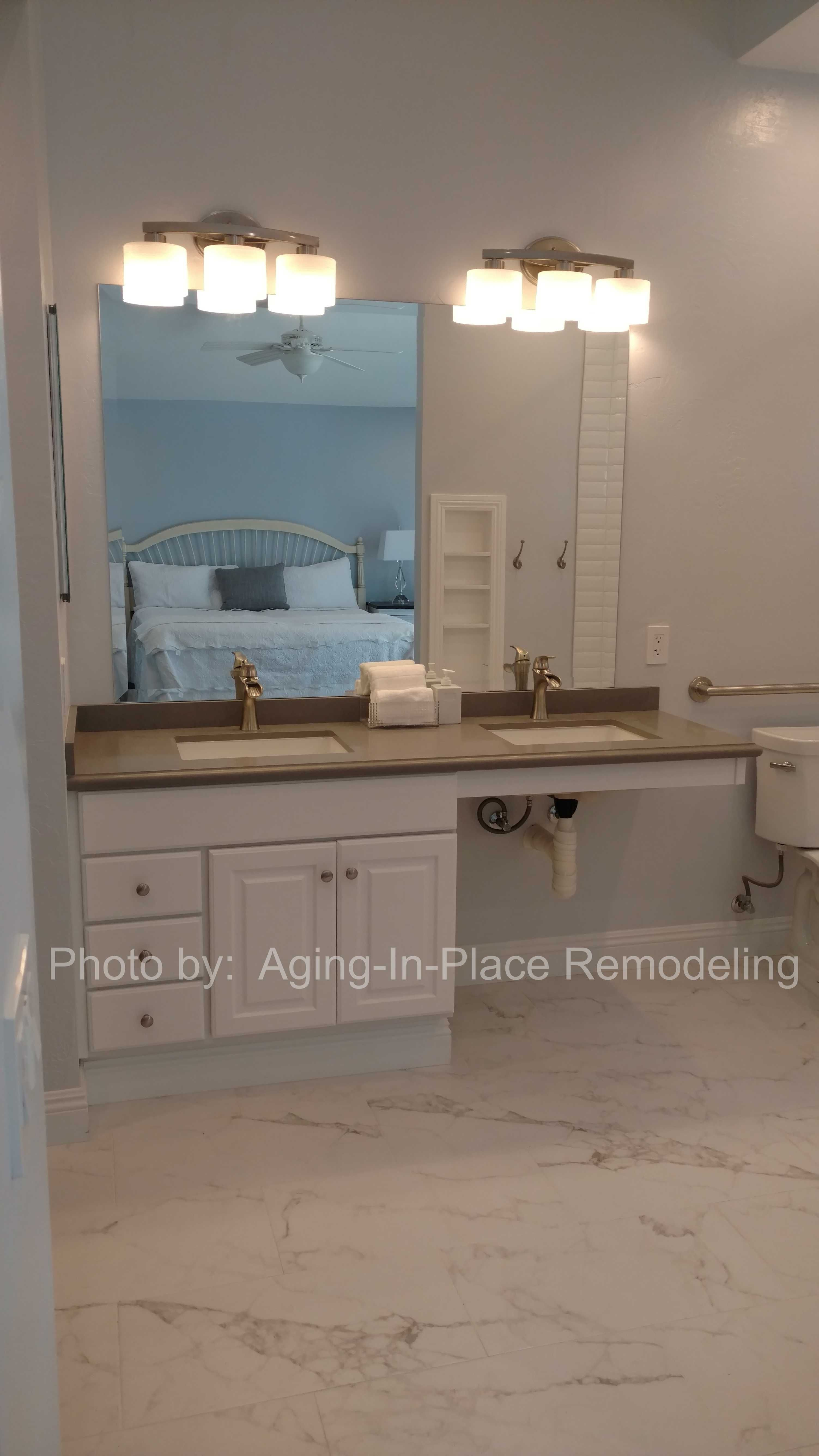 Beautiful And Accessible Describes This Newly Remodeled Bathroom A - Bathroom remodel for wheelchair access