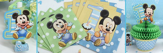 Mickey Mouse 1st Birthday Party Supplies Mickey Mouse Pinterest