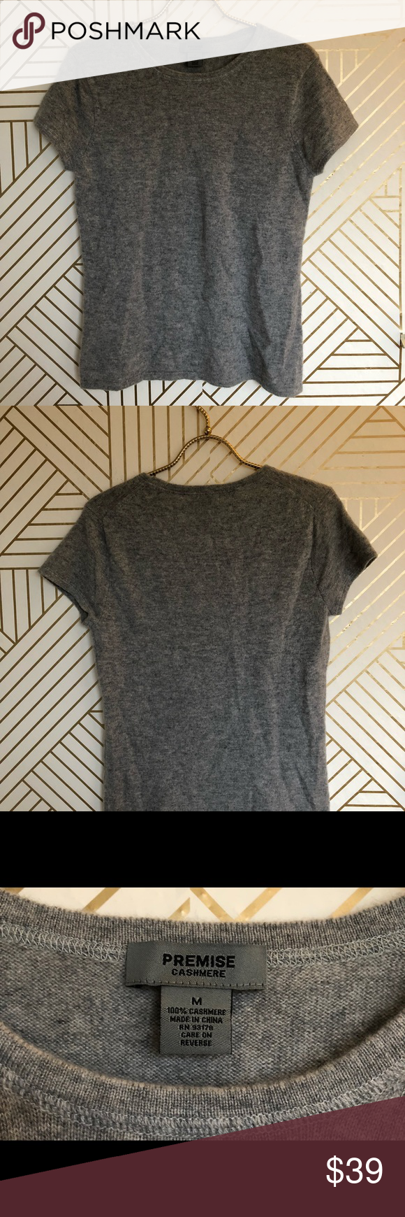 Premise cashmere short sleeve sweater | Short sleeved