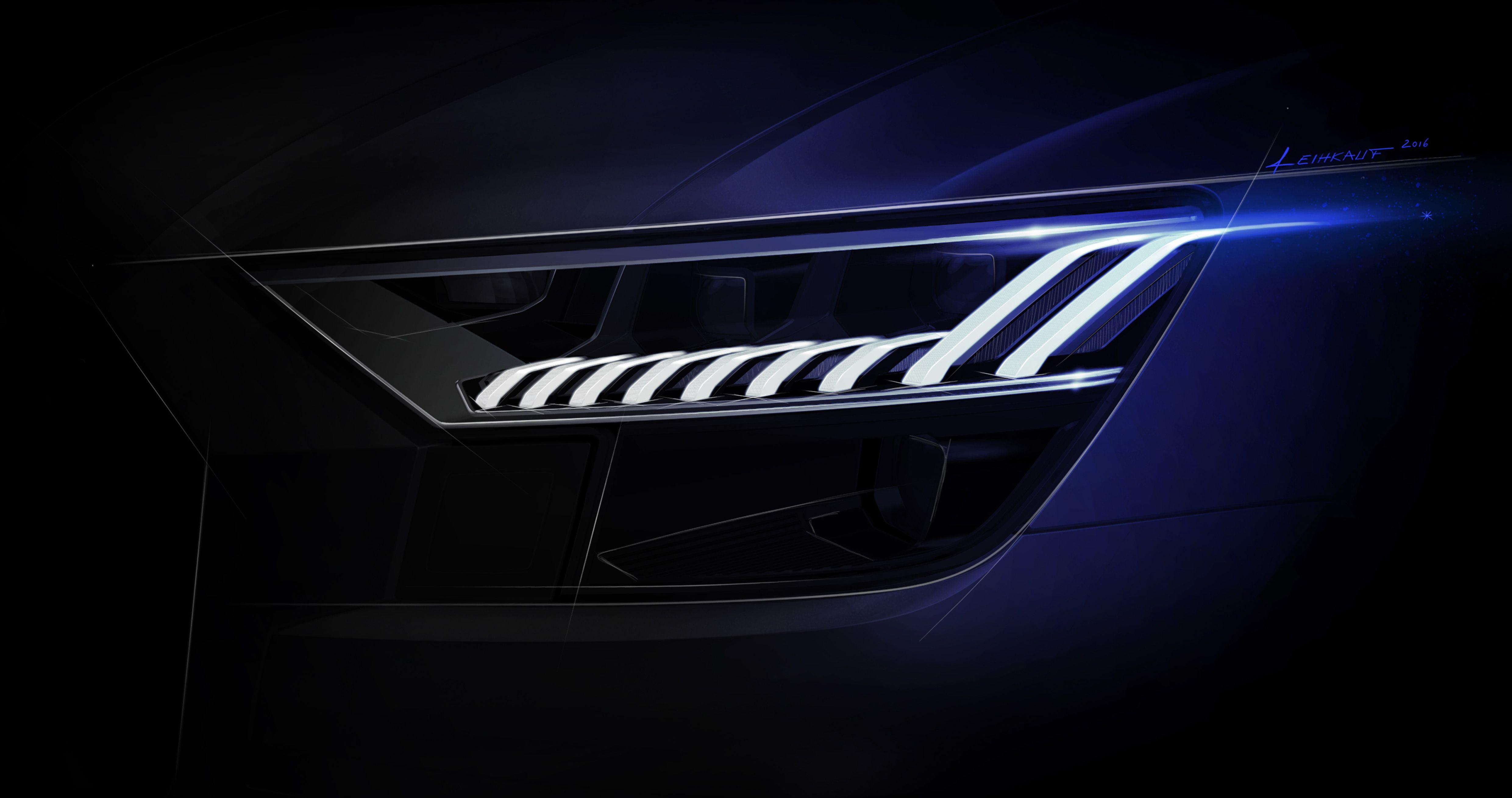 Audi Q8 Headlight Design Car Light Audi Cars Design