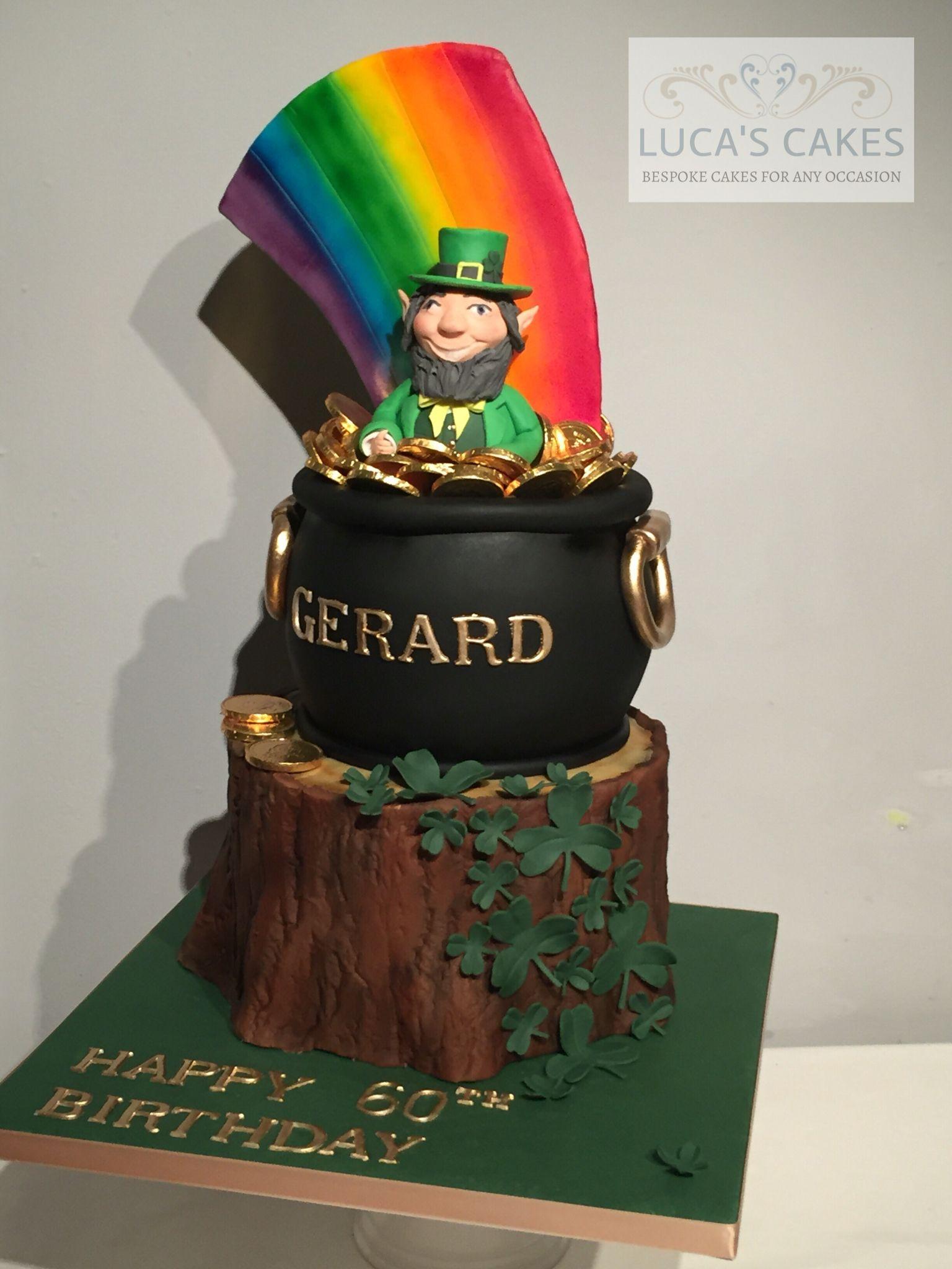 Swell Irish Themed Cake Irish Cake Irish Birthday Cake Irish Theme Personalised Birthday Cards Veneteletsinfo