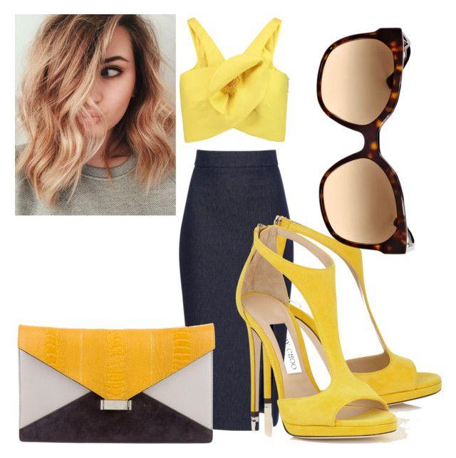"""Fashion domination"" by charlene57 ❤ liked on Polyvore featuring Cushnie Et Ochs, Delpozo, CÉLINE and Prada"