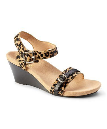 ed381725a32d Another great find on  zulily! Tan Leopard-Print Laurie Leather ...