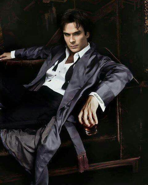 Relaxing Damon, and perhaps looking for something to liven his night ;-)