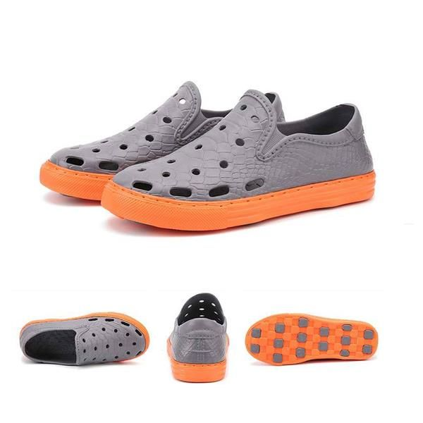 Men Hole Casual Soft Pu Loafer Slip On Flat Shoes Worldwide