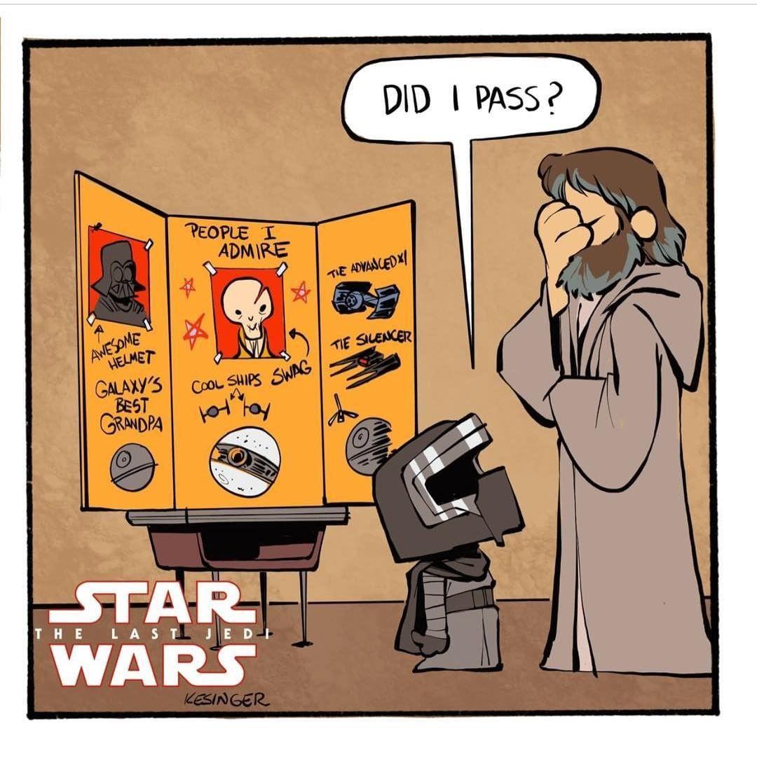 Hehe Cute Little Kylo Ren Starwars Star Wars Comics Star Wars Jokes Star Wars Humor