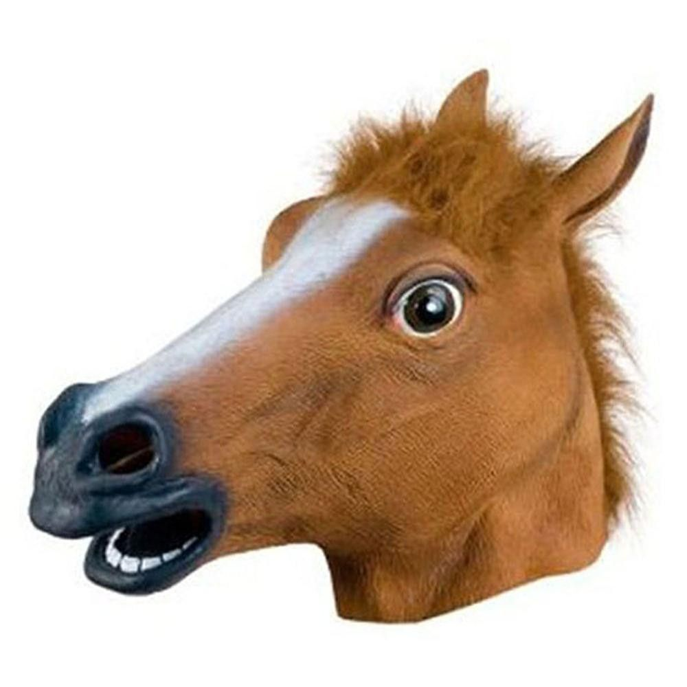 Creepy Unicorn Horse Animal's Head Latex Mask Halloween Costume ...