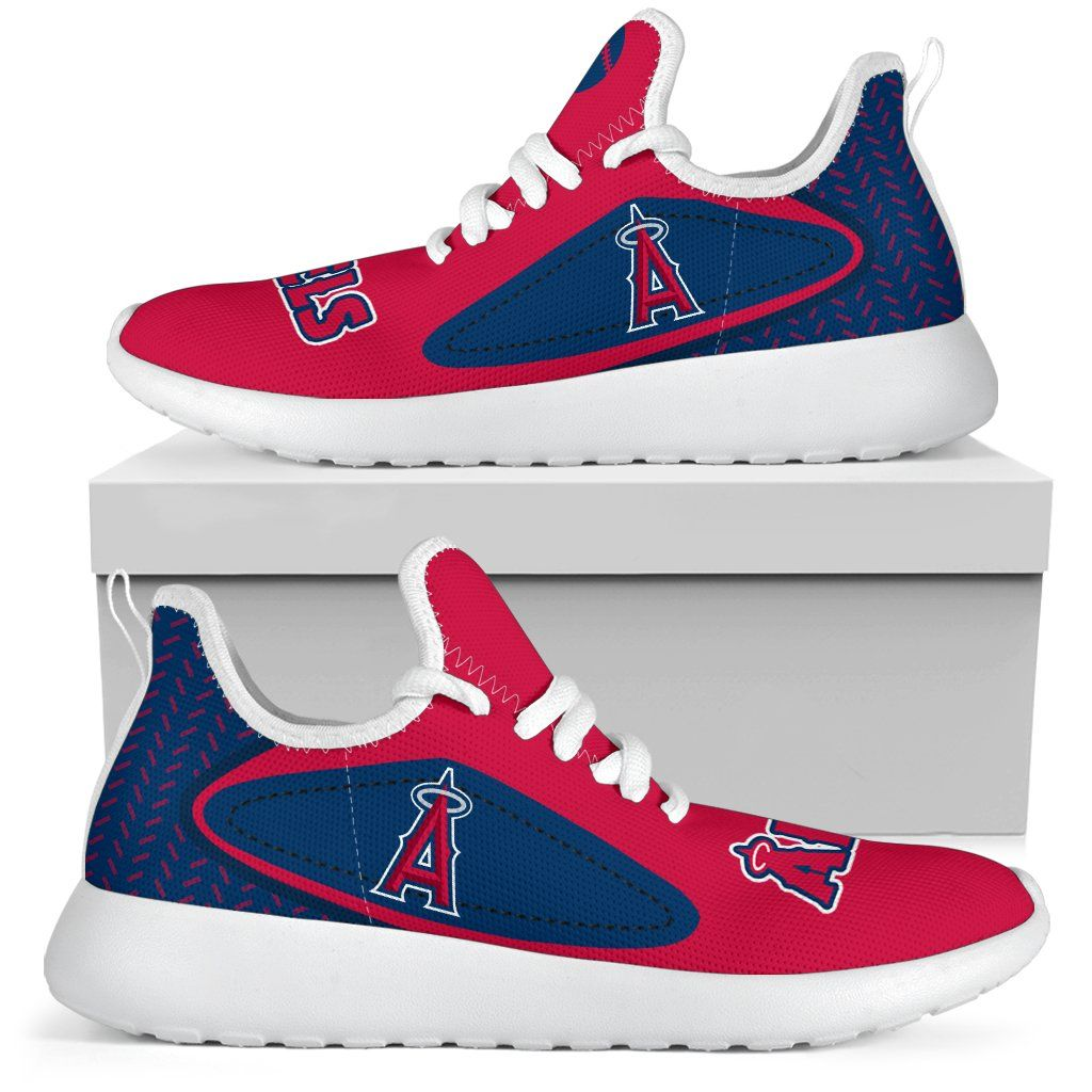 91112ab5532b4 Legend React Los Angeles Angels Mesh Knit Sneakers | Los Angeles ...