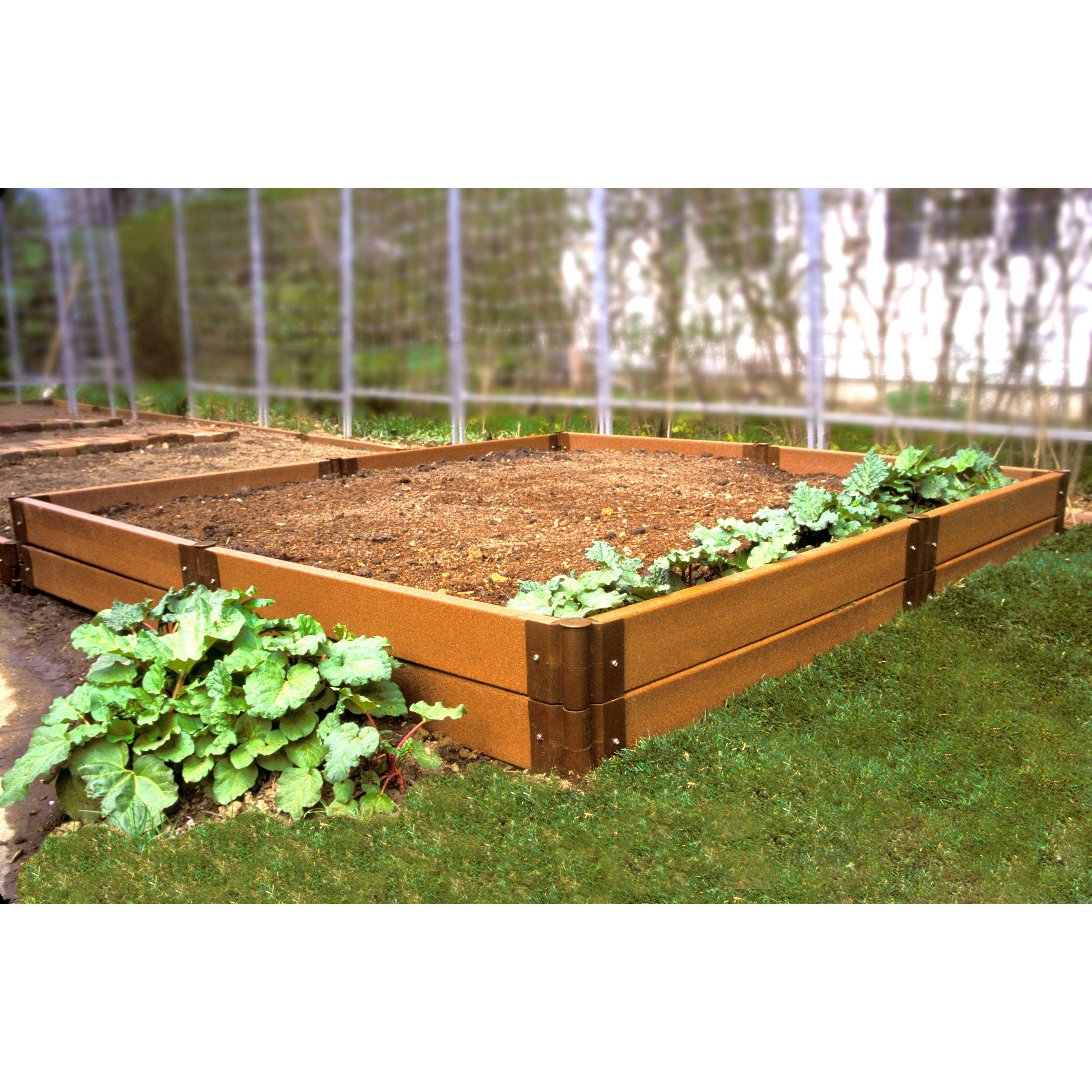 Have To Have It Frame It All 8 X 8 Recycled Resin Raised Garden Bed 399 99 Vegetable Garden Raised Beds Raised Vegetable Gardens Raised Garden