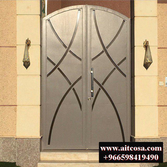 ابواب حديد خارجية 96659841490 Metal Doors Design Cool Doors Door Design