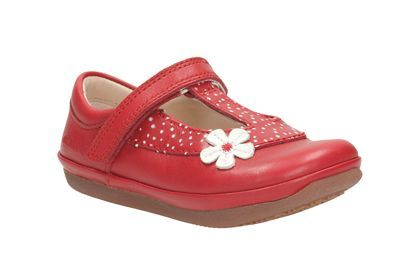 clarks red baby shoes