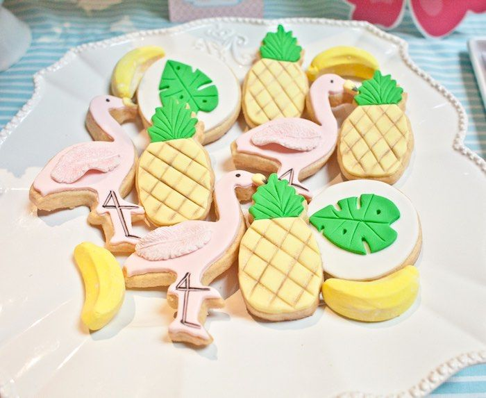 Sugar cookies from Spring Flamingo Birthday Party at Kara's Party Ideas. See more at karaspartyideas.com!