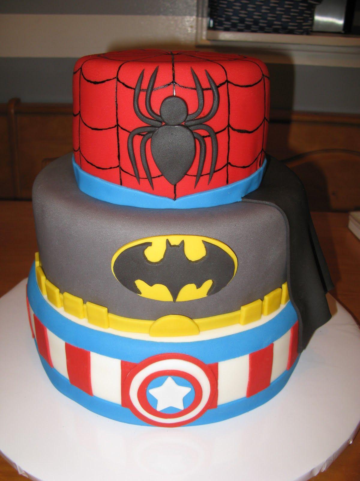 Superhero Cakes Pictures Spiderman Batman Amp Captain
