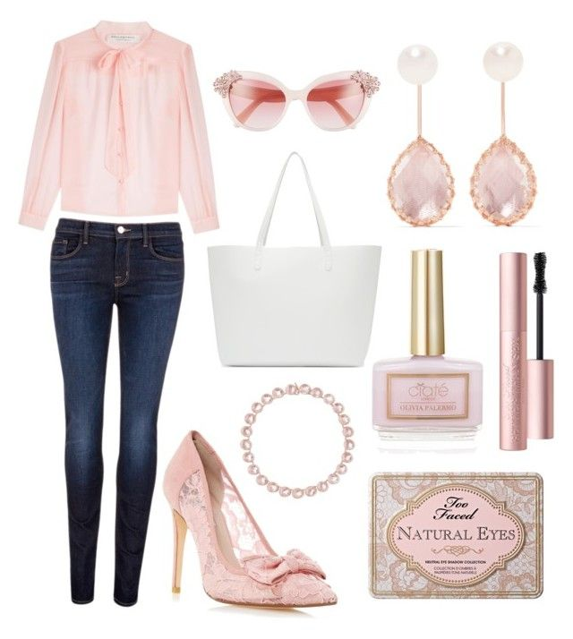 """Pretty in Pink"" by h3rm10n3 ❤ liked on Polyvore featuring J Brand, Philosophy di Lorenzo Serafini, Kate Spade, Mansur Gavriel, Larkspur & Hawk and Ciaté"