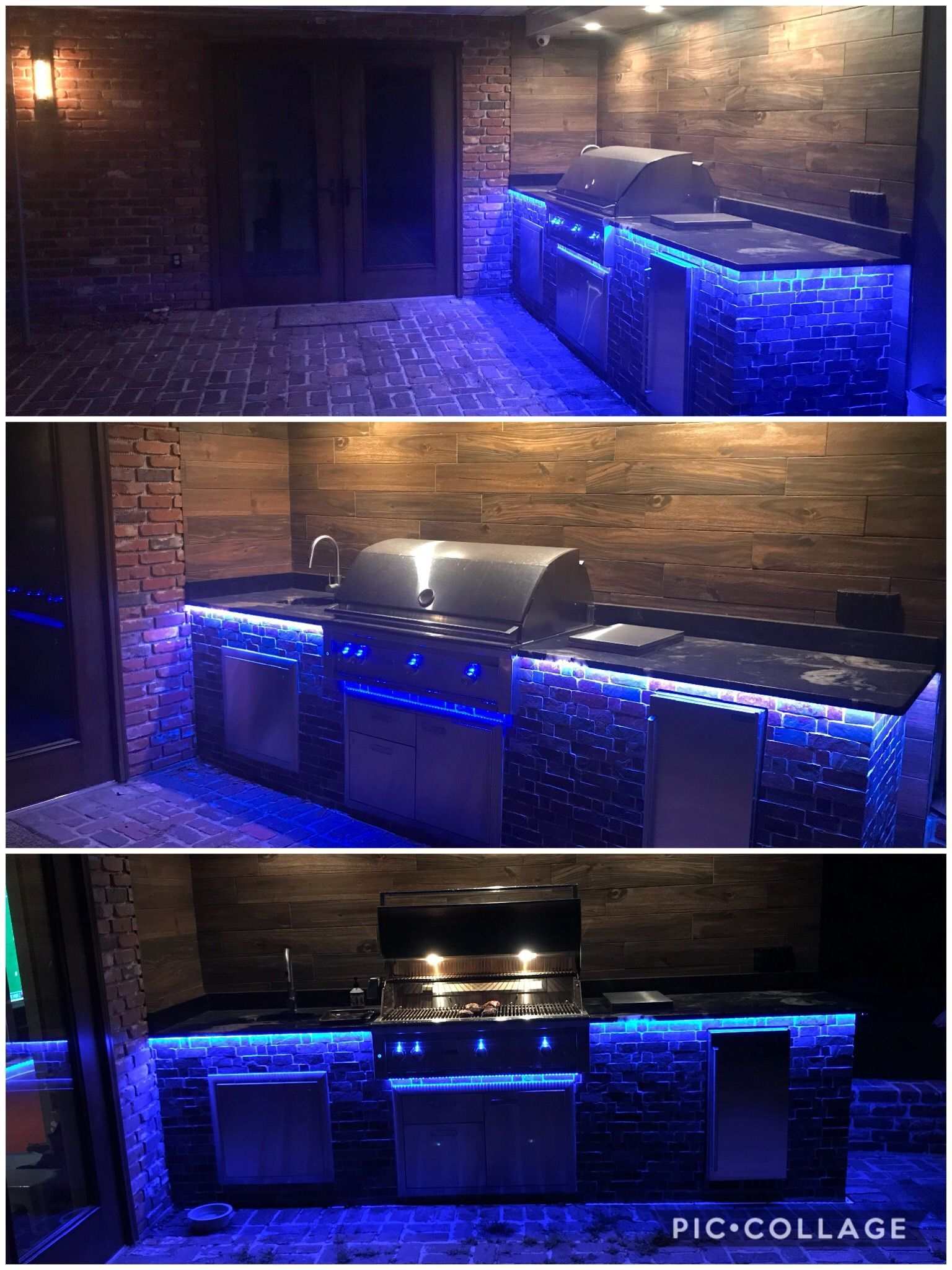 Diy Rustic Outdoor Kitchen With Lynx Grill Brushed Granite