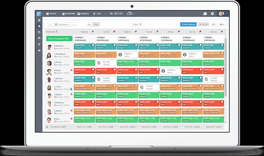 Free Employee Schedule Maker App Scheduling Template