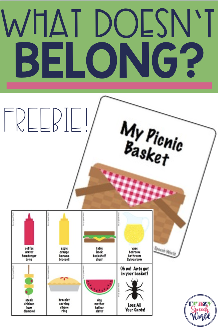 Freebie Summer Themed Download For Working On Categorization Skills In Speech Therapy Picnic Activities Speech Activities Speech Therapy Activities [ 1102 x 730 Pixel ]