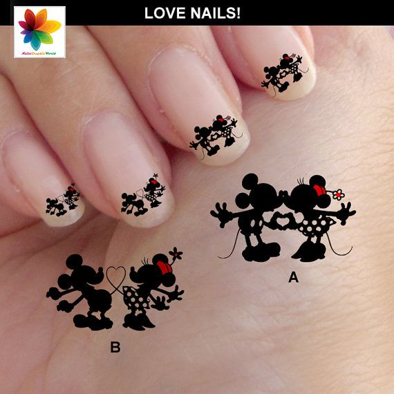 Valentine, mouse love Disney nail art, cartoons, nail art, mickey ...