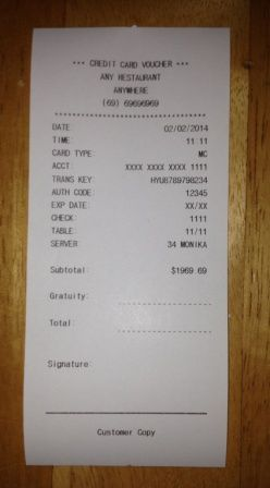 printable fake receipts life skills teach students how to leave a
