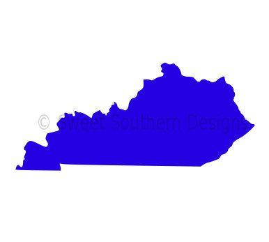 Kentucky Outline Svg Instant Download Design For Cricut Or Silhouette Kentucky Outline Kentucky Cricut